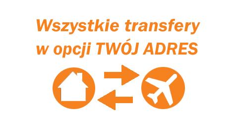 Dowóz na lotnisko i powrót z lotniska z Twojego adresu